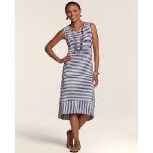 NEW Chico's Stripe Slub Dress 3 Plus